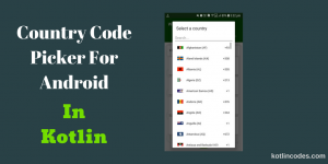 Android spinner Using Kotlin With Example - Kotlin Codes